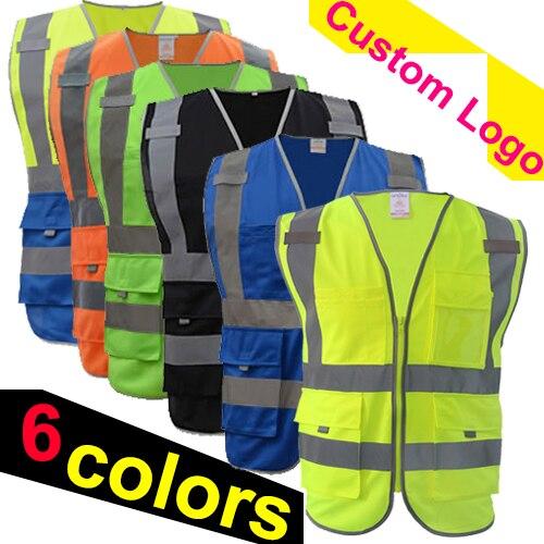 SFvest safety vest reflective Company logo printing workwear hi vis clothing safety vest free shipping