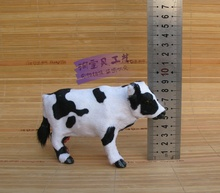 cute simulation small cow toy polyethylene & furs lovely cow model doll gift 16x5x9cm