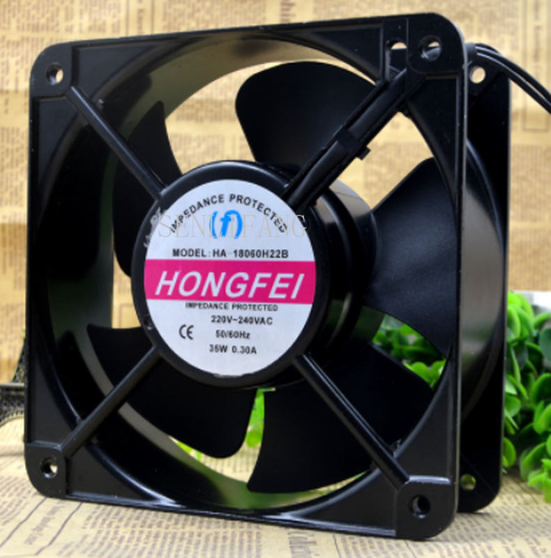 Free Shipping For (F) HONGFEI HA-18060 / HH22B 18CM 220V 35W 0.30A AC Cooling Fan