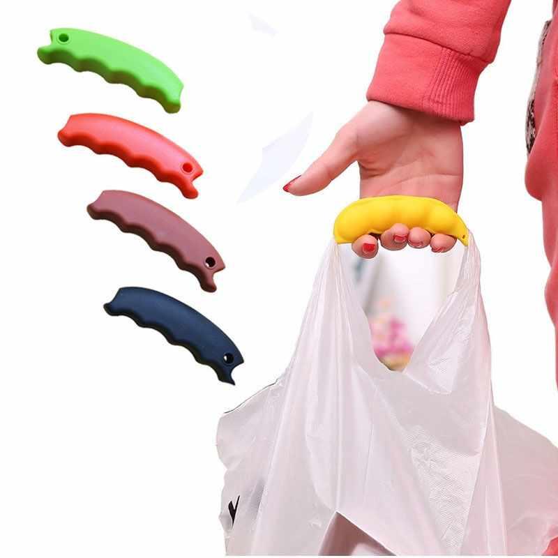 חם 1 PCS סיליקון להזכיר לקניות תיק כדי להגן על ידיים טיול מכולת תיק מחזיק קליפים ידית Carrier מנעול בית כלי