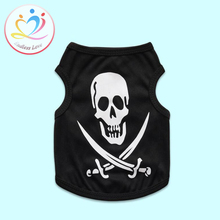 New Arrival XS-L Hallowmas punk Skull Puppy dog clothes for pets clothing Vestidos dog T shirt pet vest vests