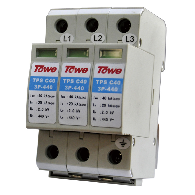 TOWE AP C40 3P Three-phase overvoltage protector applicable in TN-C IT Elevator control cabinet overvoltage protector towe ap c40 pv600 pv systems 600v dc system power class c protection 4 modulus imax 40ka up 2 2v thunder protector