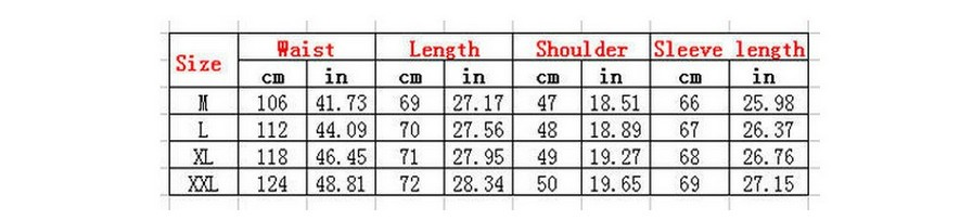 male sizing chart