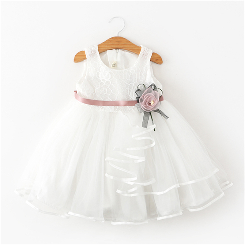 HTB1eBhZBZuYBuNkSmRyq6AA3pXaq Lace Little Princess Dresses Summer Solid Sleeveless Tulle Tutu Dresses For Girls 2 3 4 5 6 Years Clothes Party Pageant Vestidos