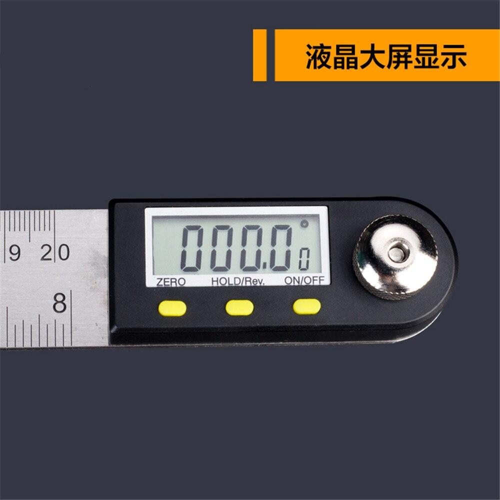 Digital Electronic Protractor Angle Finder Miter Goniometer Gauge Ruler 200mm 300mm 500mm protractor