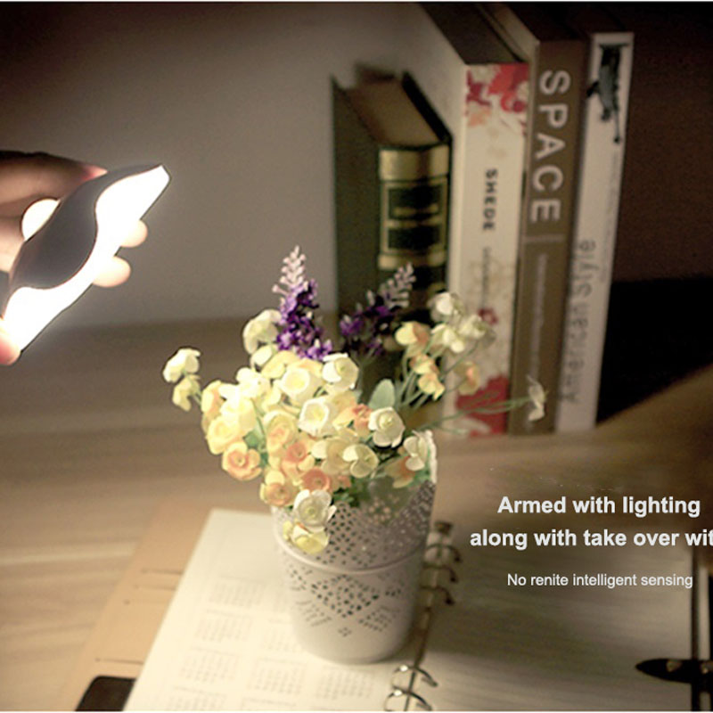 LED Sensor Night Light Lamps Four Leaf Clover Luminaria Motion Sensor PIR Intelligent Human Body Induction LED Bedroom Lamp led beetle nightlight porch stairway wall lamp wireless motion sensor intelligent led human body induction sconce night lights