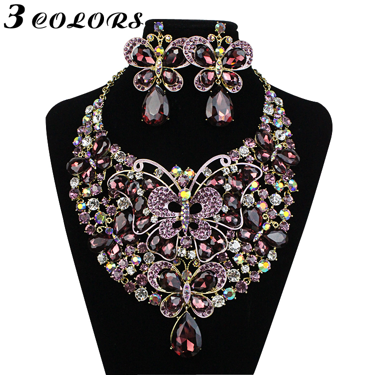 New Fashion Necklace Earring Set Designer Jewellery Butterfly