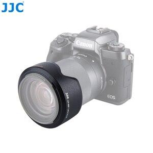 Image 3 - JJC Camera Flower Shade osłona obiektywu do CANON EF M 18 150mm obiektyw do Canon EOS M200 M100 M50 M10 M6 Mark II M5 wymień Canon EW 60F