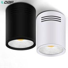 Светодиодный светильник s 3 Вт 5 Вт 7 Вт 10 Вт 15 Вт поверхностного монтажа потолочные лампы точечного освещения AC85-265V поверхностного монтажа светильник белый/теплый белый