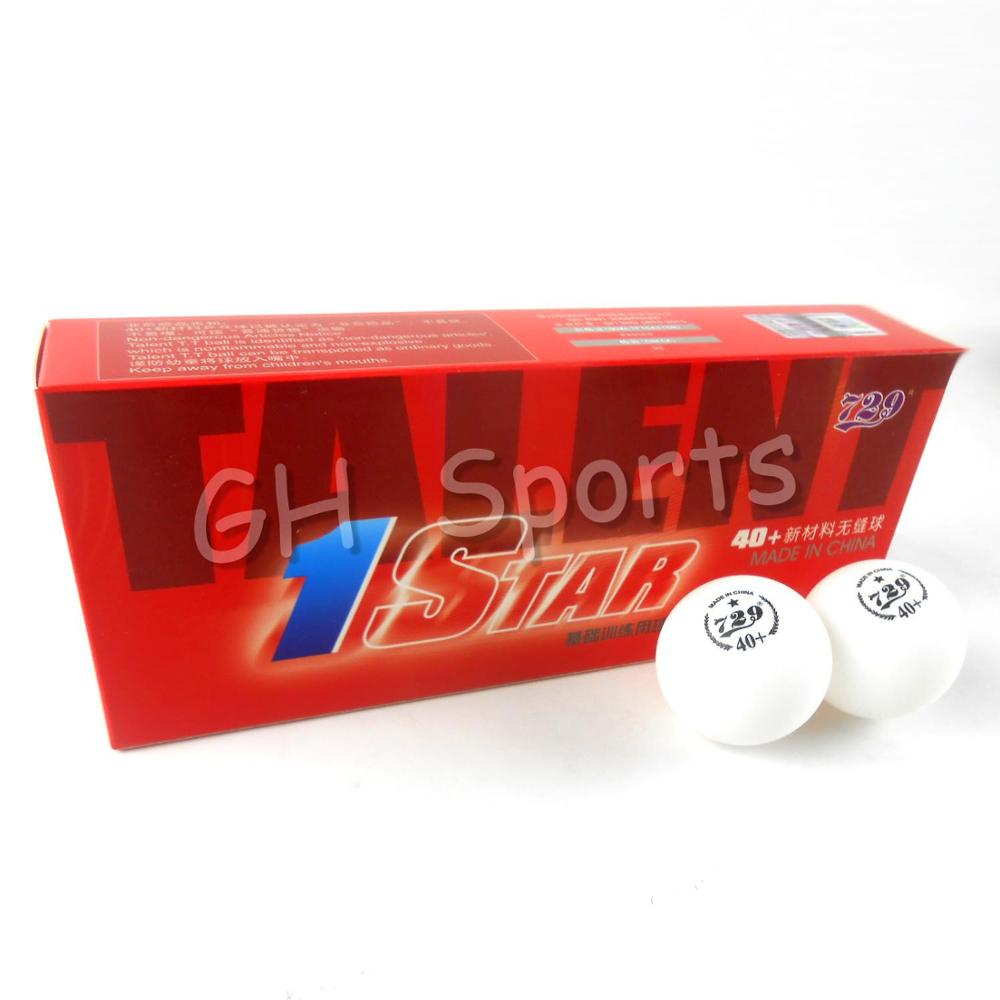 10x RITC 729 1 Star 1-Star 40+ New Materials White Table Tennis Balls for Ping Pong