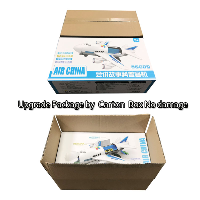 Image 5 - 2019 Music Story Simulation Track Inertia Children's Toy Aircraft Large Size Passenger Plane Kids Airliner Toy Car Free Gift Map-in Diecasts & Toy Vehicles from Toys & Hobbies