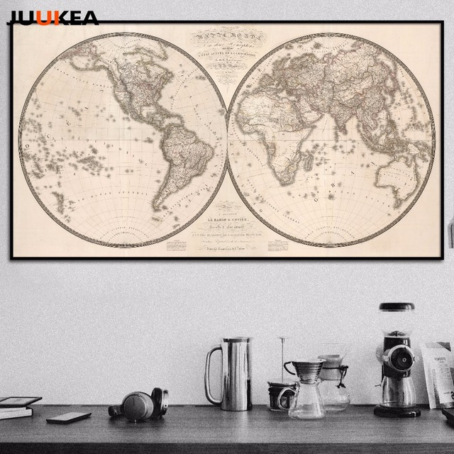 Hot sale 19th century classic vintage world map canvas art print hot sale 19th century classic vintage world map canvas art print painting poster wall pictures gumiabroncs Gallery