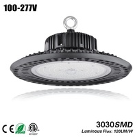 Free shipping Aluminum heat sink 150w UFO high bay for 400w Metal Halid HPS lamp replacement CE ROHS 5 years warranty