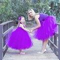 Платье для мамы и девочки на свадьбу, вечернее платье для мамы и дочки платье принцессы для маленьких девочек одинаковые комплекты для семь...