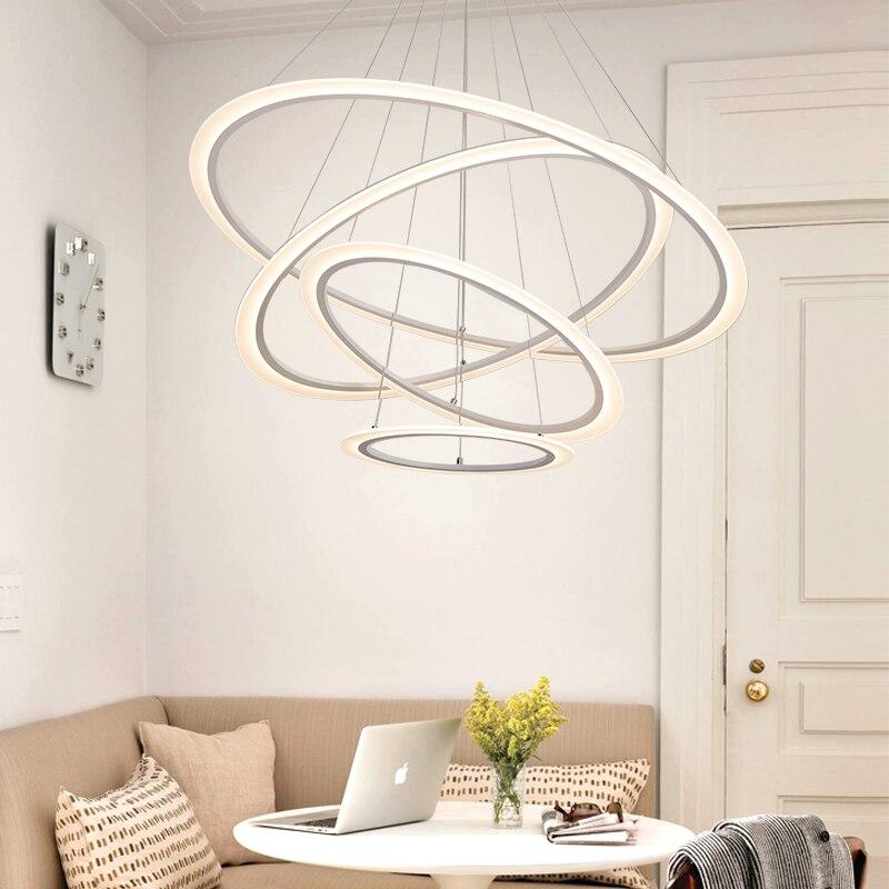 Modern LED lustre Pendente Luzes Para Sala de Jantar Quarto AC110 ~ 260 V Escurecimento Luminária de techo Lampara pará sala de estar
