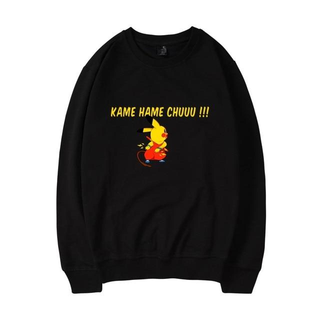 8e4f0306f1f LUCKYFRIDAYF Pokemon GO Pikachu Capless Hoodies Sweatshirts Men Women  Popular Anime Japan Cartoon Pullover Warm Winter Hoodies