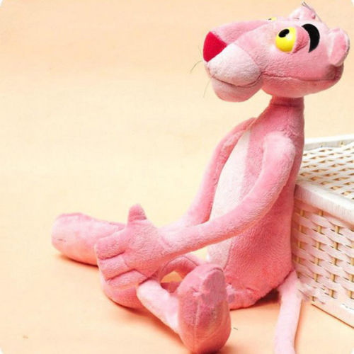 38cm Cute Cartoon Leopard Pink Panther Plush Toys Stuffed Animal Baby Toy Kid Doll Gift
