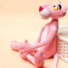 38cm bonito dos desenhos animados leopardo cor-de-rosa pantera brinquedos de pelúcia animal de pelúcia brinquedo do bebê presente da boneca do miúdo