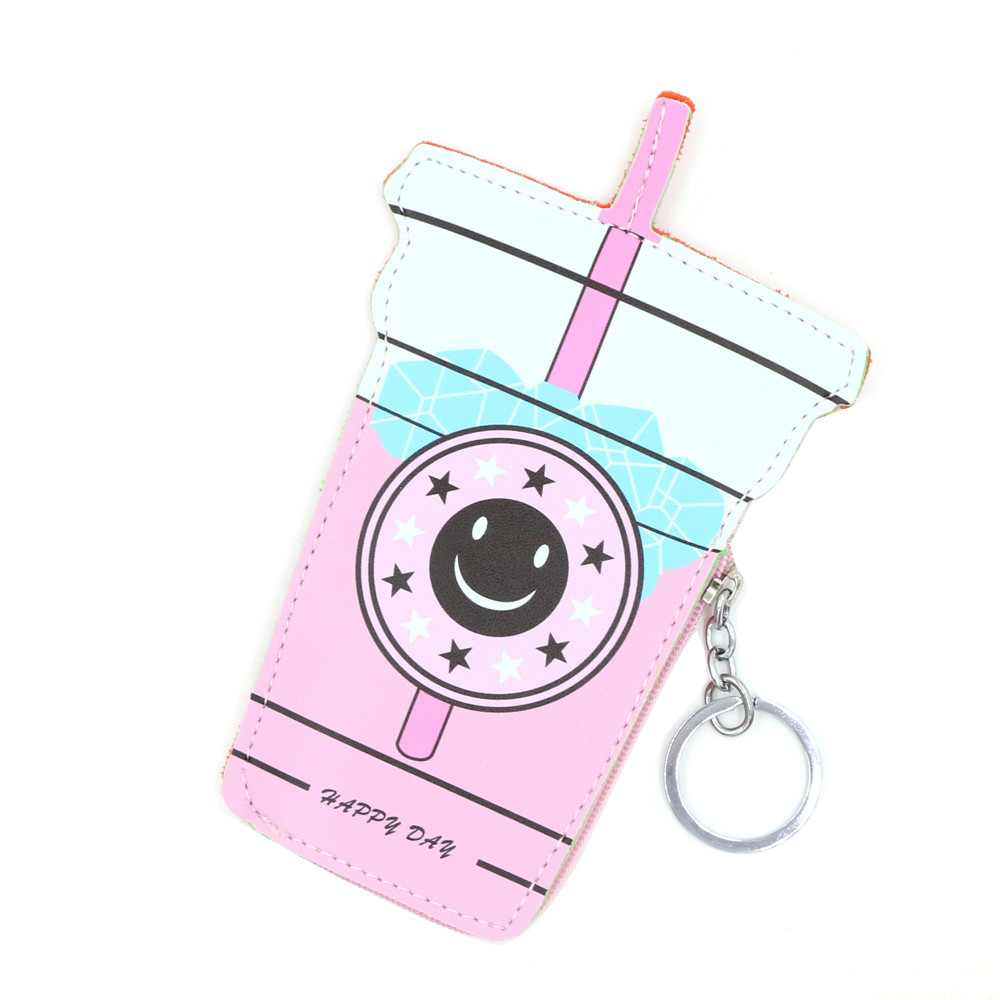 2018 Cartoon Women Coin Purse Cute Ice cream Bottle Leather Key Packet Coin Wallet Coin Pouch Girls Purse Cute Bag Girls