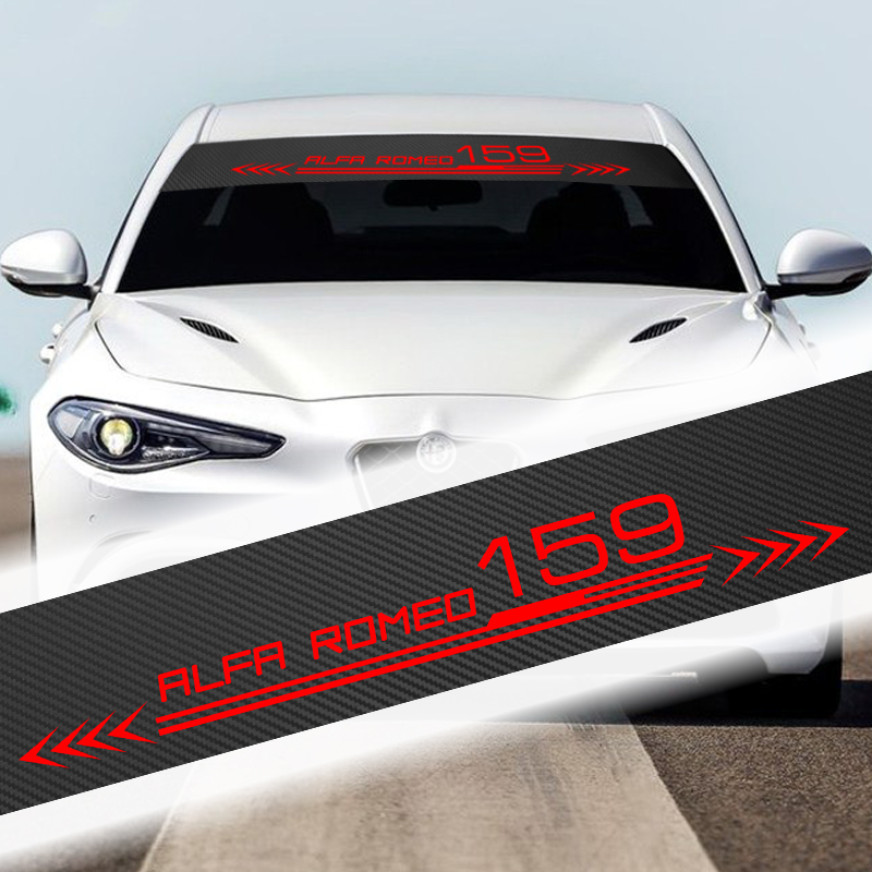 135cm X 20cm Car Accesorios Auto Window Decal Sticker Front Windshield Sunshade Sticker For Alfa Romeo 159 147 156 Giulietta GT