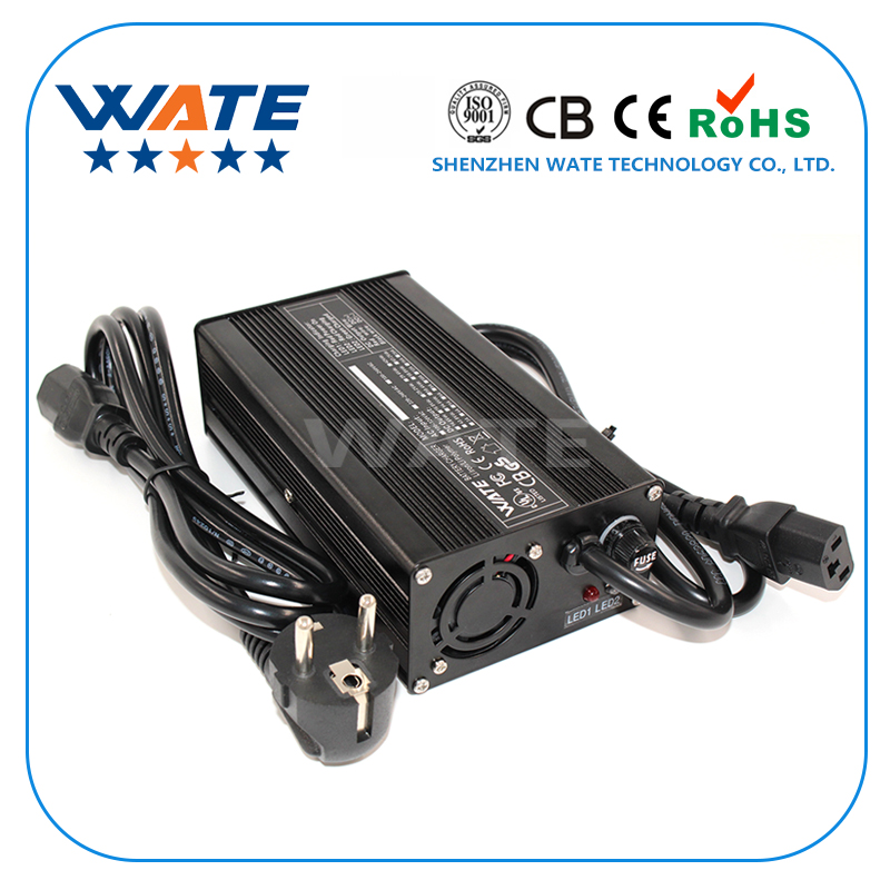 WATE 33.6V7A Charger 8S 29.6V Li-ion Battery Smart Charger Lipo/LiMn2O4/LiCoO2 battery Charger electric bike aluminum case цена