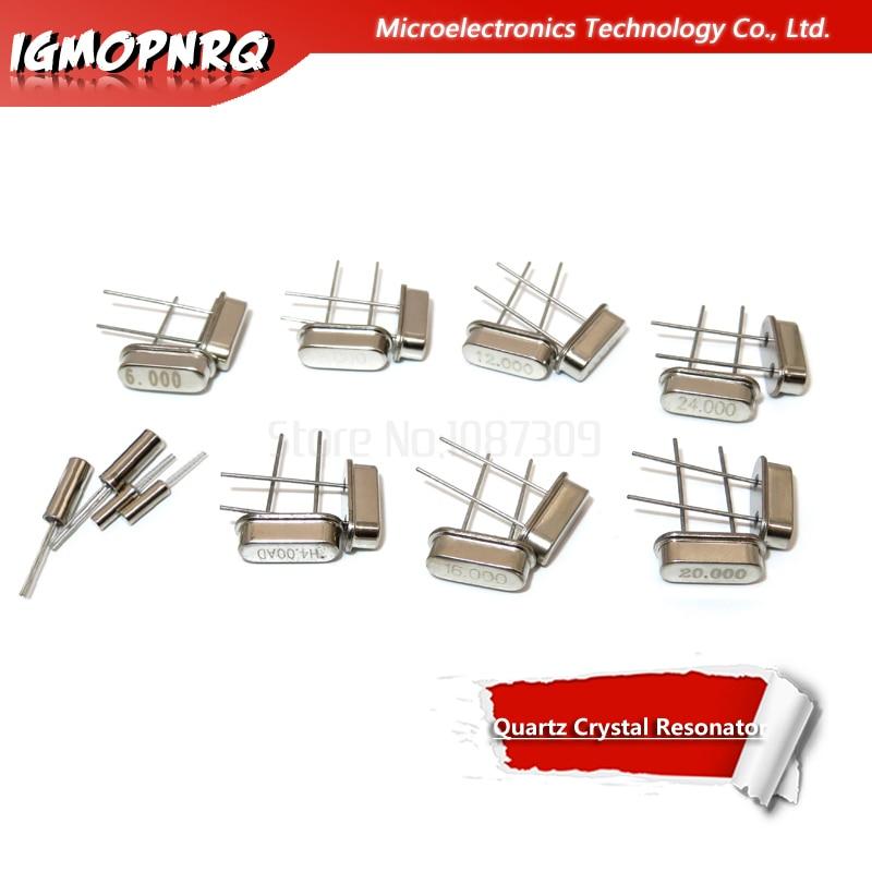 10PCS 4Mhz 6Mhz 8Mhz 12Mhz 16Mhz 20Mhz 24Mhz 4.000mhz 8.000mhz IgMopnrq Quartz Crystal Resonator Passive Oscillator HC 49S New