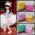 New 2015 Baby Girls Fashion Bags Girl Accessories Kids bowknot Handbags Children PU Party Shell Bag Shoulder bags sling Bolsas