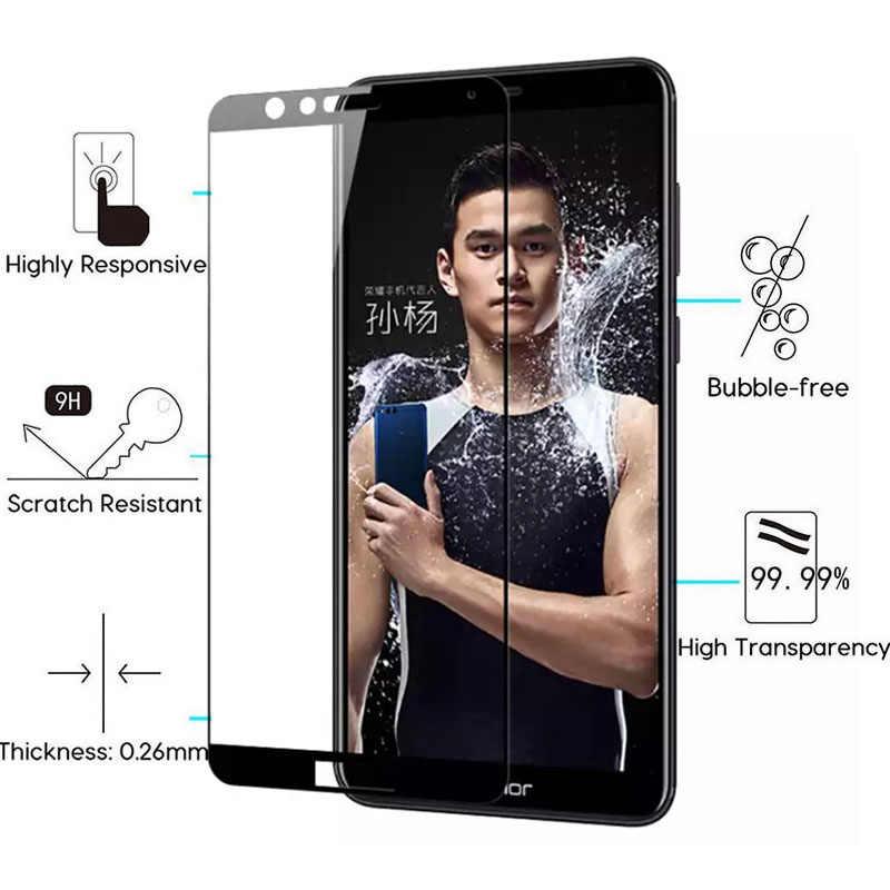 NBYST pełna pokrywa szkło hartowane dla Huawei Nova/Nova 2 Plus Nova Plus młodych Nova Lite 2017 ochraniacz ekranu folia ochronna