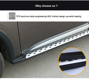 """Image 5 - Thicken running board side step bar for Mitsubishi Outlander 2016 2020,""""CXK"""" genuine,load 300kg,HITOP SUV experiences 7 years"""