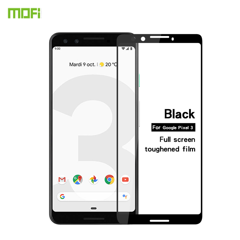 MOFi For Google Pixel 3 Glass Full Cover Tempered Glass For Google Pixel 3 Screen Protector in Phone Screen Protectors from Cellphones Telecommunications