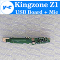 Kingzone Z1 USB Board + Mic In Stock 100% Original USB Plug Charge Board for kingzone Cell Phone Free Shipping+Tracking Number