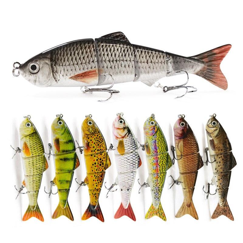 WATERBOY 12cm 16.5g Fishing Lure Multi Jointed Hard Bait Lifelike Joint Bait Wobblers Sinking Swimbait Fishing Lure Crankbait
