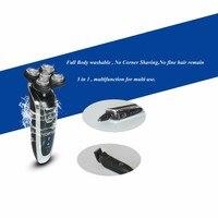 5 шт. Для мужчин моющиеся Перезаряжаемые поворотный электробритва бритвы с 5D плавающий Структура Quick Charge удаления волос