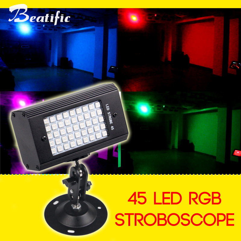45 Led RGB Strobe USB 5v Stroboscope For Disco Home Party Color Light Music Strobe Lights