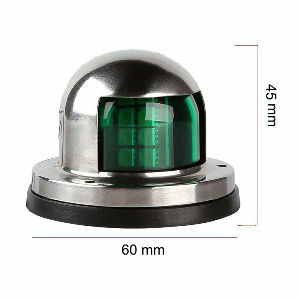 Red Green Signal Light Waterproof Stainless Steel Housing 12V/24V Navigation Lamp For Yacht GT66