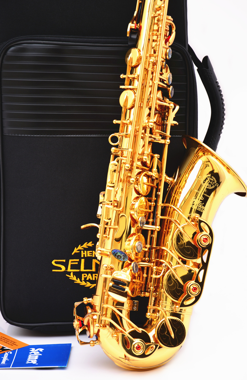 New French Selmer 54 Alto Saxophone double Key E-flat saxophone musical instrument Alto Saxophone DHL / UPS shipping  one horn double row 4 key single french horn fb key french horn with case surface gold lacquer professional musical instrument