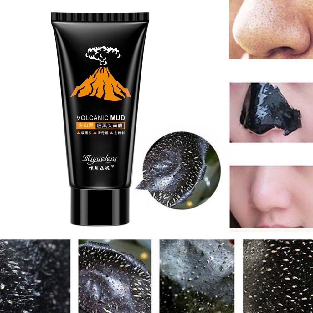 1 Pcs Blackhead Remover Volcanic Black Mud Face Mask Deep Cleansing Peel Acne Treatment Skin Care Beauty Women Fashion Hot Sale Комедон