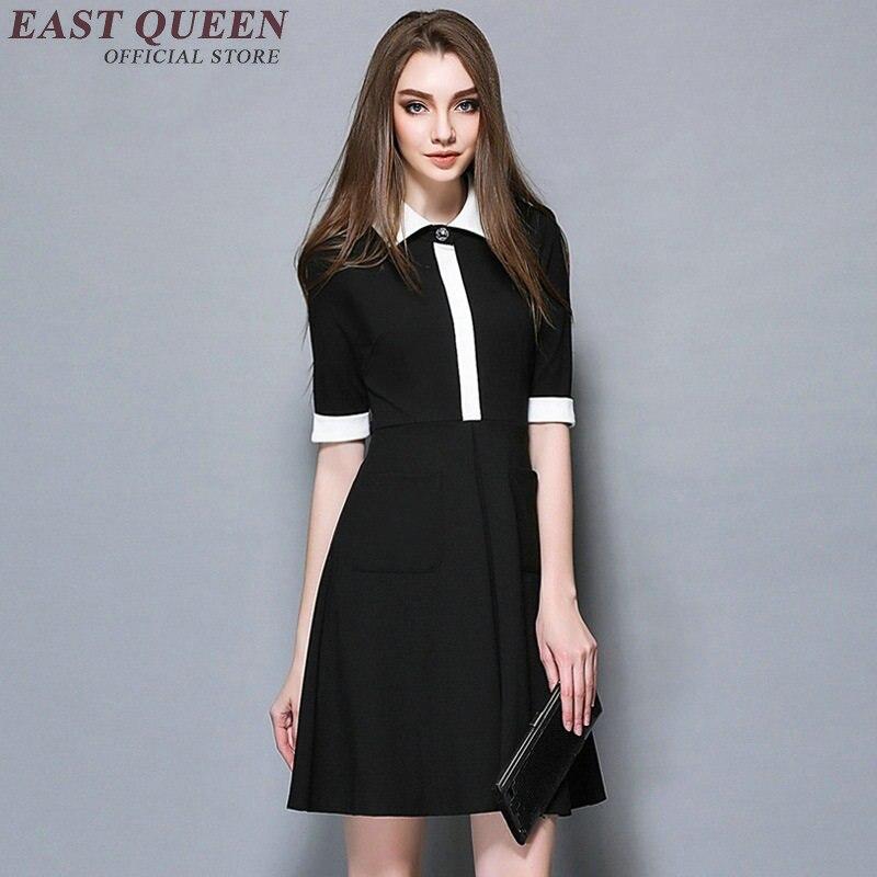 À Col Noir A Blanc Robe Femmes Ol Casual Hq D'été 2018 Noire Summerdress ligne Mode Nn0522 0zYXqZww