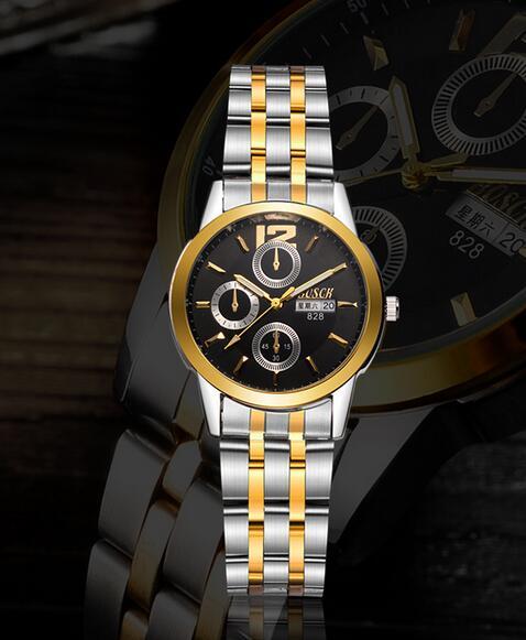 New automatic mechanical watch men's watch waterproof luminous watch men's fashion steel calendar men's watch цена 2017
