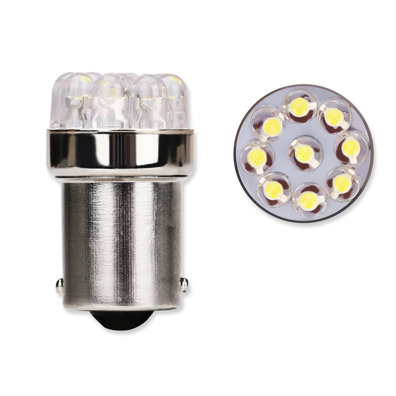 4pcs/lot White 1156 BA15S P21W S25 7506 Led Light Bulbs 9 LEDS Turn Signal Backup Brake Reverse Tail Light Lamps DC 12V FISHBERG merdia 1156 5w 68 smd 1210 led white light car brake backup steering lamps pair 12v