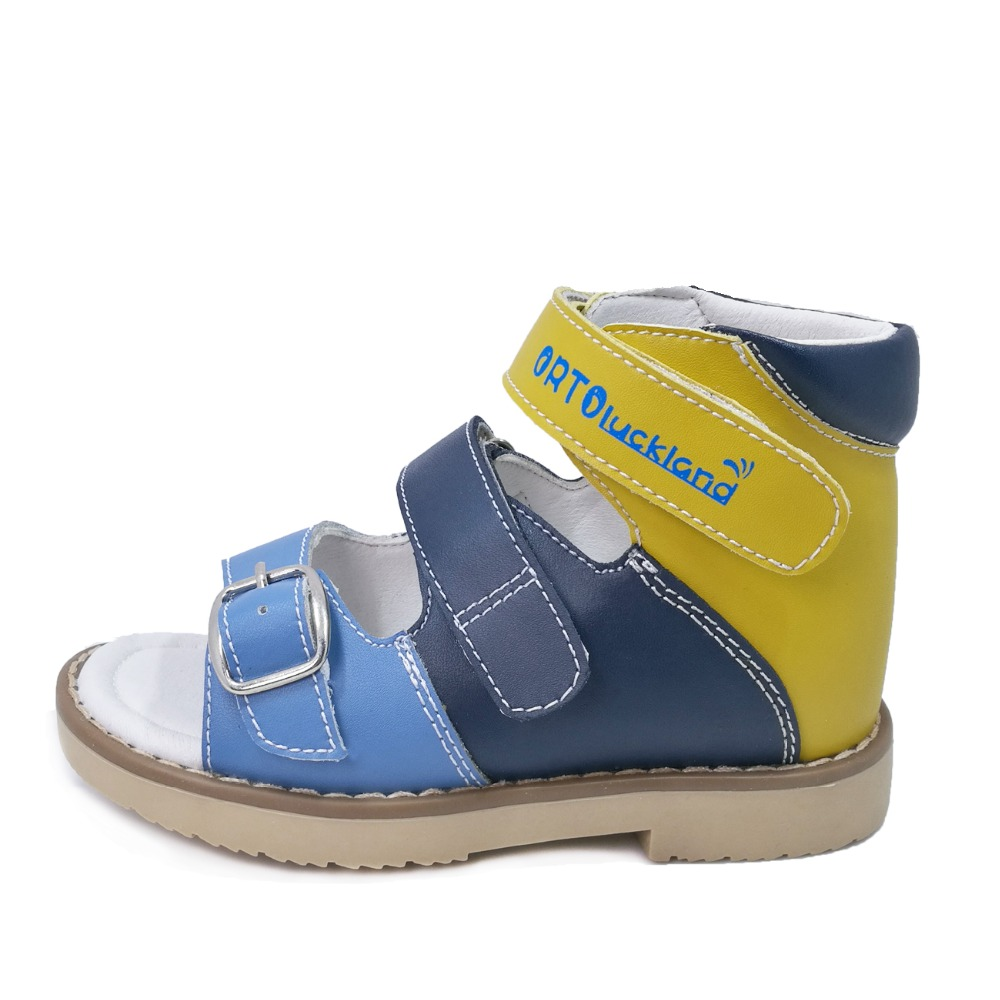 Children boys hook and loop summer genuine leather sandals kids orthopedic shoes in euro size23 to33-in Sandals from Mother & Kids    1