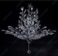 Modern 100cm Candles K9 Big Crystal Chandelier Tree Leaf Lustre De Cristal Bedroom Hotel Lampadario Lustre