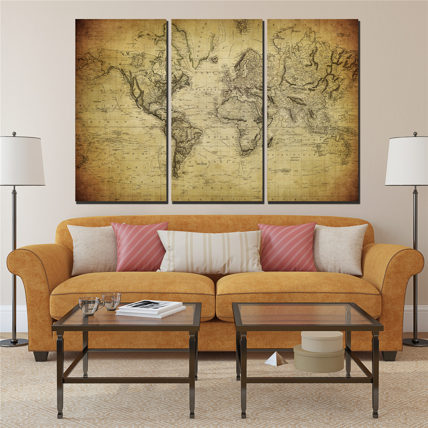 Buy modular picture middle earth atlas for International home decor stores