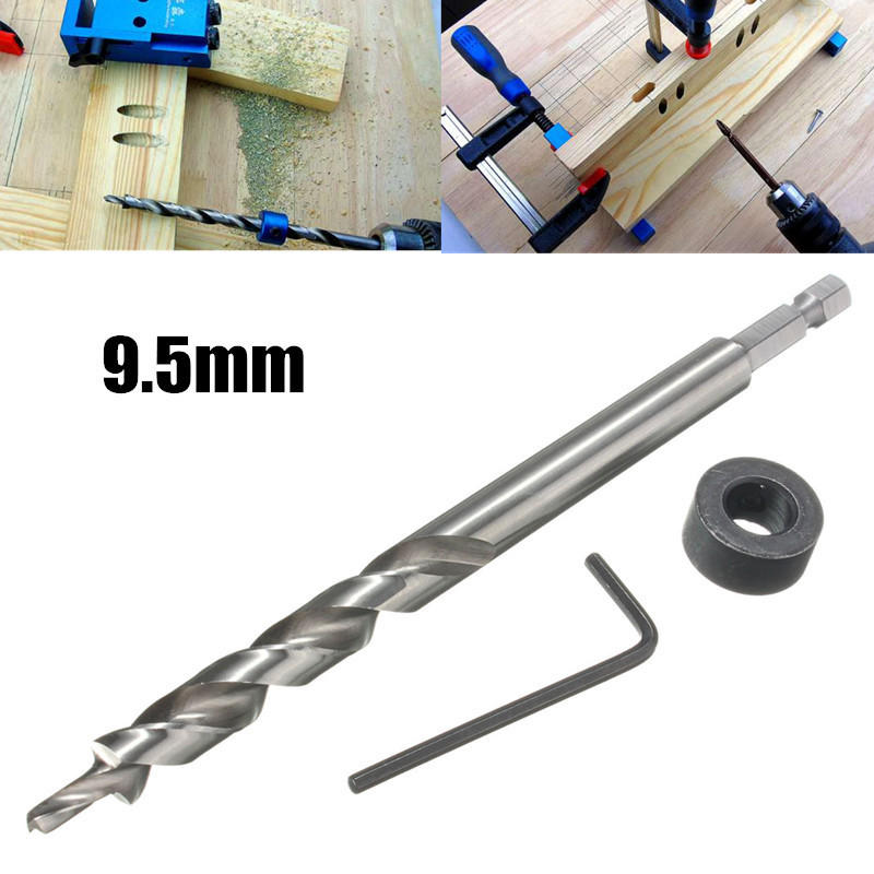 for Woodworking Black Finish Carbon Steel uxcell Drill Bit Depth Stop Collar 6mm Internal Dia