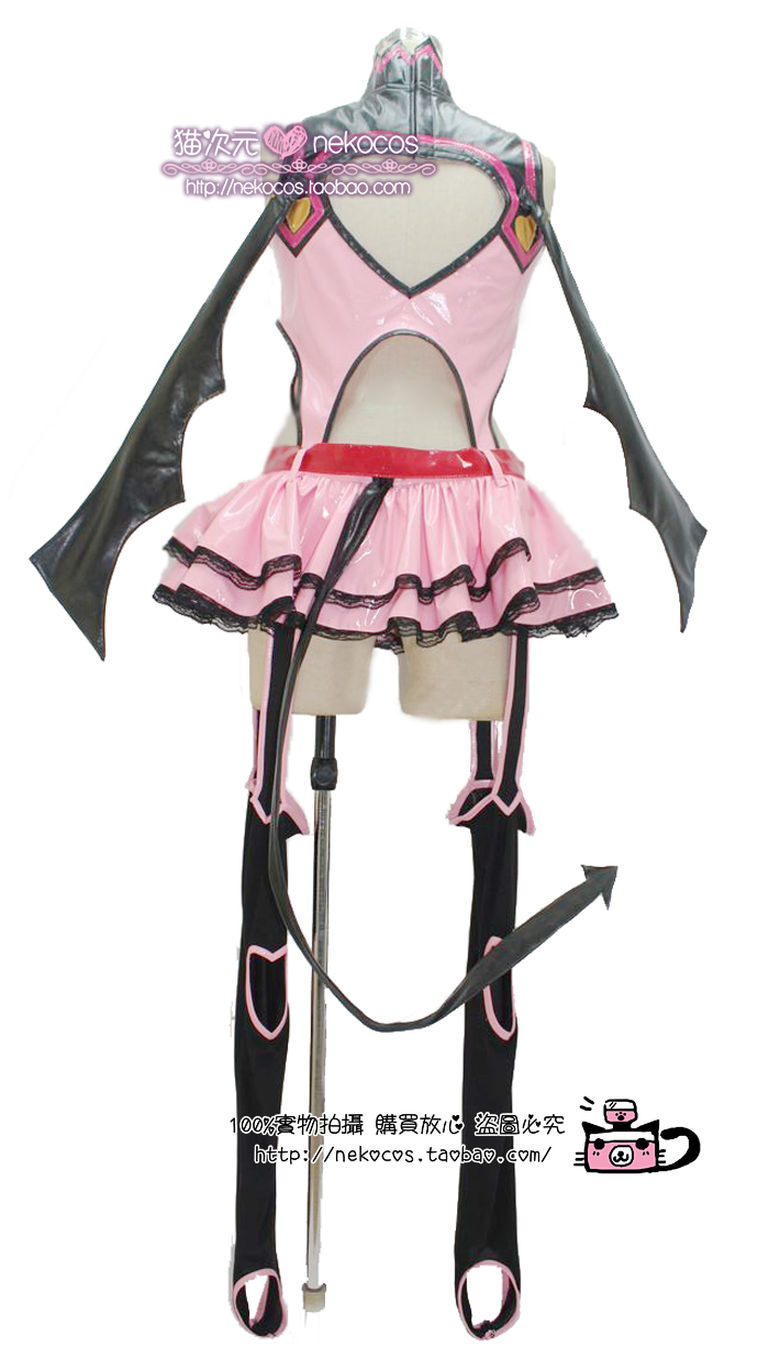 Hot Anime VOCALOID MIKU Little Devil Party Dress Skirt Cosplay Costume Custom-made Any Size NEW plus size light up cosplay party skirt