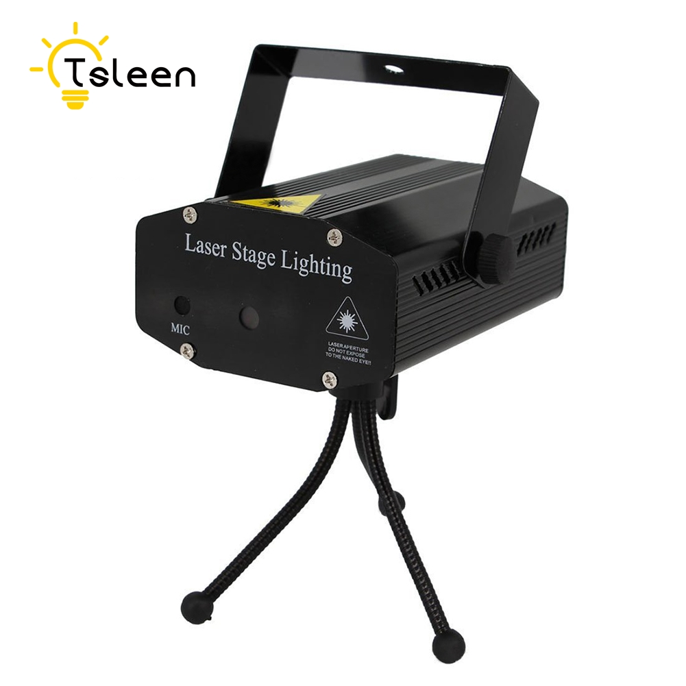 TSLEEN disco light ++ MINI R+G LED LAZER PROJECTOR DJ STAGE LIGHT FOR XMAS PARTY CLUB BAR WEDDING 20 IN 1 PATTERNS DYNAMICLY