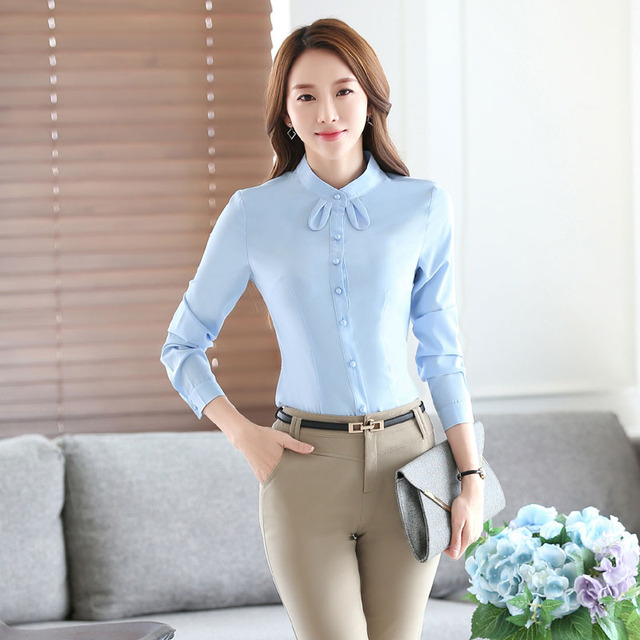 fccd2a48bf3e Novelty Blue Formal OL Styles Female Pantsuits With 2 Piece Tops And Pants  Professional Business Work