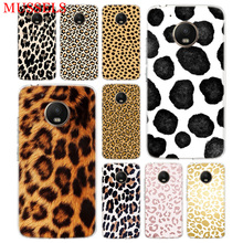 Leopard Pattern TPU Phone Case For Motorola Moto G7 G6 G5S G5 E4 Plus G4 E5 Play Gift Pattern Coque Cover Shell tpu case for lg g5 colorful dot pattern phone protective shell