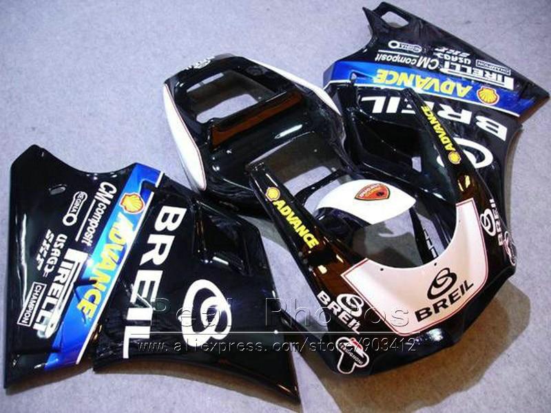 Injection bodywork fairings for Ducati 748 916 93 05 black white fairing kit 996 998 1993 1994 2005 DY15