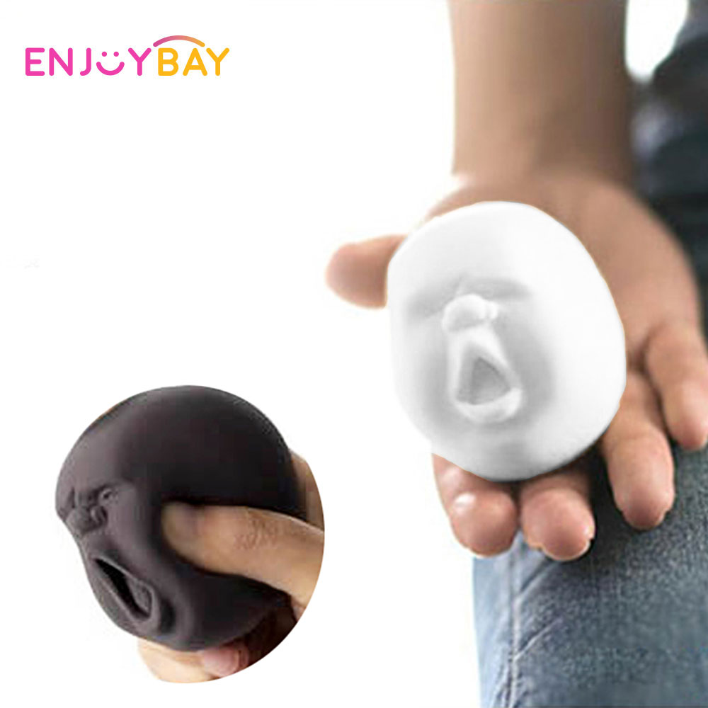 Clearance Soft Human Face Ball Toys Variety Face Emotion Vent Ball Resin Relax Doll Funny Gadgets Stress Relieve Toy For Adult